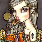 Princess Celine and Her Majesty the Owl by tanyabond