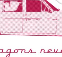 Old wagons never die Sticker