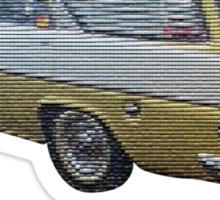 Kicking it old school (EK Wagon) Sticker