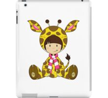 Cute Cartoon Giraffe Girl iPad Case/Skin