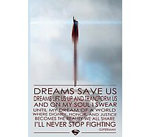 Superman Inspirational Poster Photographic Print