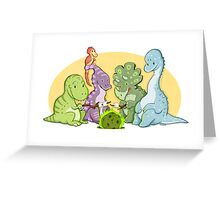 Dinosaur Campfire Greeting Card