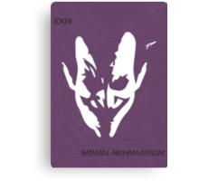 Joker Face Canvas Print