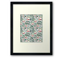 pattern with cats and mushrooms Framed Print