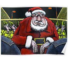 Festive scrape for Santa Poster