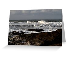 Rocks and Waves, Trevone Bay, Cornwall Greeting Card