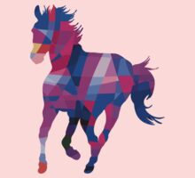 Cool Horse Vector Colors And Shapes T-Shirt Prints and Stickers Kids Clothes