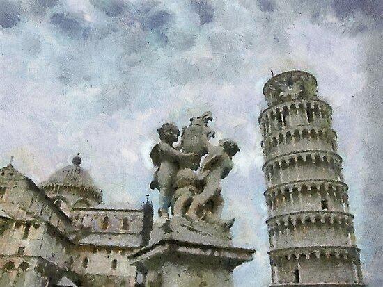 Piazza dei Miracoli, Pisa, Tuscany, Italy by buttonpresser