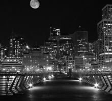 Super Moon Over San Francisco by matthewbickham