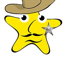 Sheriff Star Cartoon by kwg2200