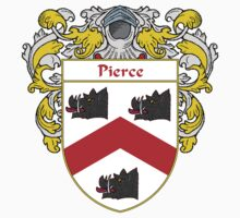 Pierce Coat of Arms / Pierce Family Crest by William Martin