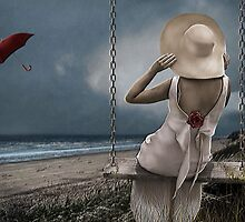 Lady At Beach by Maria Murphy