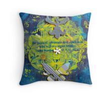 Flower Of Life Be Patient Pleasant and Open.jpg Throw Pillow