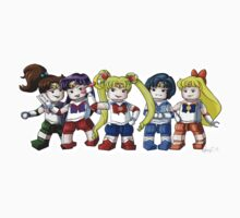 Legolized Sailor Scouts by luvusagi