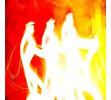 Three Wise Men Orange- Unique Art Photographic Print