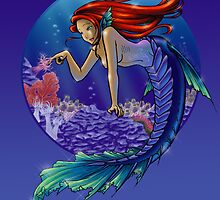 Mermaid in Reef by spyragyra