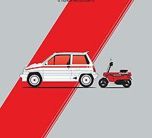 Honda City Turbo & Motocompo by RexDesigns
