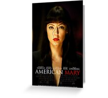 American Mary Black Swan Style Poster Greeting Card