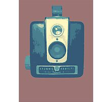 Classic Hawkeye Camera Design in Blue Photographic Print