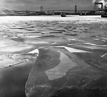 Frozen River, Gothenburg by David Perrin