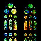 Stained Glass Windows - Sagrada Familia, Barcelona, Spain by Georgia Mizuleva