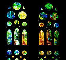 Stained Glass Windows - Sagrada Família, Barcelona, Spain by Georgia Mizuleva