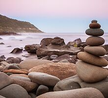 Zen Stones at Twilight by jamjarphotos