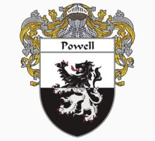Powell Coat of Arms / Powell Family Crest by William Martin