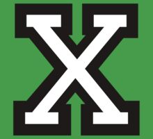 Letter X two-color by theshirtshops