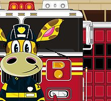 Cute Giraffe Fireman by MurphyCreative