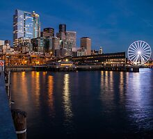 Seattle Dusk Waterfront by mikereid
