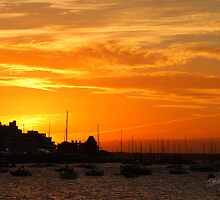 Sunset over Cowes by Jonathan Cox