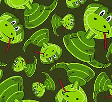 Cartoon Cobra Snake Pattern by MurphyCreative