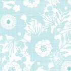 Blue lace flowers pattern by oksancia