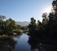 landscape with river II - paisaje con rio by Bernhard Matejka