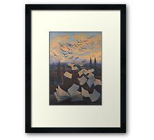 Flying Over City Framed Print