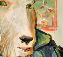 Vincent Van Goat Sticker