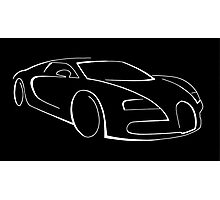 Bugatti Veyron graphic (White) Photographic Print