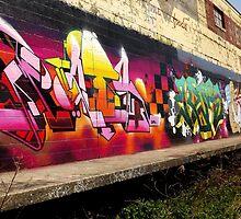 "Classic Graffiti on a ""Permission Wall""- by Schoolhouse62"