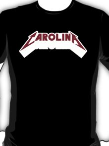 Carolina - Metal Font (Garnet Text) T-Shirt