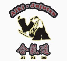 Aikido Aiki-Jujutsu Designers Tees and Stickers by nhk999