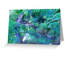"""""""Manoa Valley Creek"""" by Carter L. Shepard Greeting Card"""