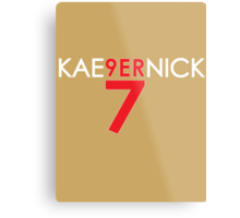 KAE9ERNICK 7 - QB #7 Colin Kaepernick of the San Francisco 49ers [DARK] Metal Print