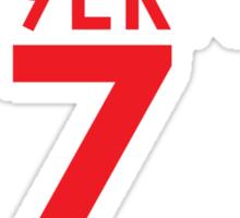 KAE9ERNICK 7 - QB #7 Colin Kaepernick of the San Francisco 49ers [DARK] Sticker