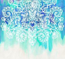 Indigo & Aqua Abstract by micklyn