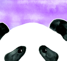 Lazy Panda on Mint & Violet Sticker