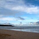 Blue Skies at Harlyn Bay, Cornwall by Samantha Higgs