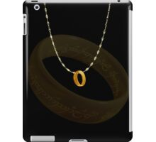NeckLace with Ring LOTR iPad Case/Skin