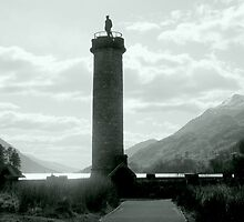 Monument and Mountains , Loch Shiel by printerbill