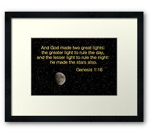 The Lesser Light to Rule the Night Framed Print